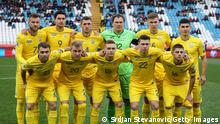 BELGRADE, SERBIA - NOVEMBER 17: Players of Ukraine pose for a photo prior to the UEFA Euro 2020 Qualifier between Serbia and Ukraine on November 17, 2019 in Belgrade, Serbia. (Photo by Srdjan Stevanovic/Getty Images)
