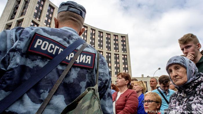 Russland Demonstration Moskau Pressefreiheit