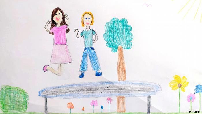 Bildergalerie Kinderzeichnungen über COVID-19