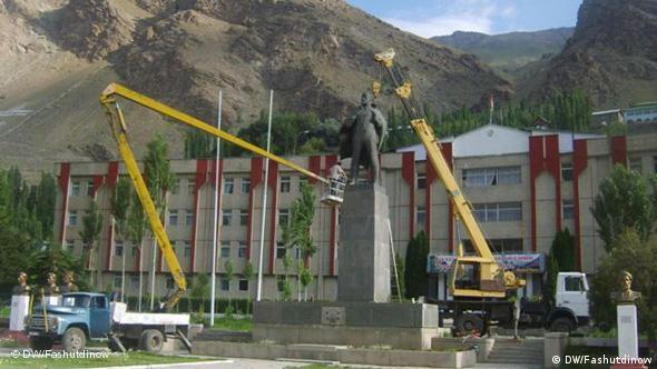 Памятник Ленину, центральная площадь Хорога