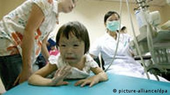 Many kids were hospitalized in China after consuming melamine contaminated milk products in 2008
