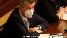 Andrej Babis, Ministerpräsident von Tschechien, nimmt an einer Parlamentssitzung teil. Nur vier Monate vor der Parlamentswahl muss sich der tschechische Regierungschef Andrej Babis einem Misstrauensvotum stellen. +++ dpa-Bildfunk +++