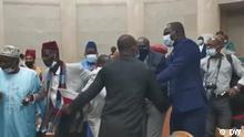 Screenshot I Ausschreitungen zwischen Politikern in Guinea-Bissau via Braima Darame Video Copyright : DW contributor