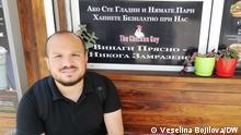 Der Ägypter Nureldin Iltamimi, der in seinem Restaurant in der bulgarischen Stadt Plovdiv Bedürftige bewirtet.