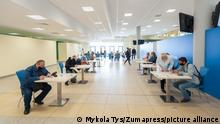 May 29, 2021, Lviv, Ukraine: People registrar for vaccination at the Arena Lviv stadium..The new Center, the Arena Lviv stadium has been transformed to a vaccination center for people who have registered in the waiting list through the Diia (Action) application. First of all - people over 60 years. Vaccination is done with the Chinese vaccine CoronaVac. More than a thousand people are planned to be vaccinated over the weekend. (Credit Image: © Mykola Tys/SOPA Images via ZUMA Wire