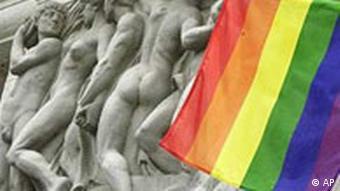 Regenbogenfahne: Schwule und Lesben Festival in Berlin