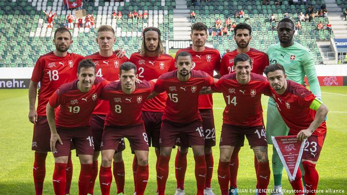 EURO2020 Fußball Mannschaft Schweiz