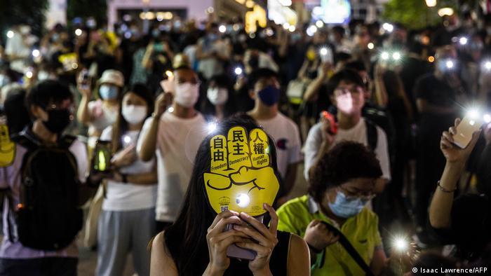 Акція пам'яті жертв на площі Тяньаньмень в Гонконгу