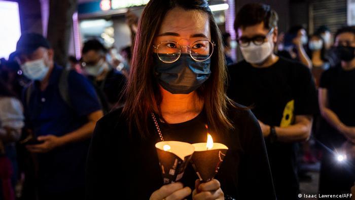 Hongkong Jahrestag des Massakers am Platz des Himmlischen Friedens