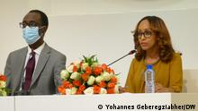 Press Briefing. Billene Seyoum, press secretary for Ethiopia's Prime Minister Abiy Ahmed, and the Attorney General Dr. Temotiwos, Ethiopia, 03.06.2021. While briefing international media on the ongoing legal activities in Tigray and other parts of the country, the Federal Attorney General Dr. Temotiwos outlined activities related to investigations and prosecutions against the TPLF as well as members of the National Defense Forces who have been suspected of alleged crimes.