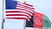 Die Fahnen / Flaggen von USA und Afghanistan , 26.07.2019 The flags of USA and Afghanistan , 26.07.2019 *** The flags of USA and Afghanistan , 26 07 2019 The flags of USA and Afghanistan , 26 07 2019