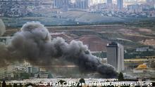 June 03, 2021.*** ANKARA, TURKEUY - JUNE 03: Smoke rises after fire broke out in a workplace that produces chemicals in Ankara, Turkey on June 03, 2021. Fırat Caglayan Yurdakul / Anadolu Agency