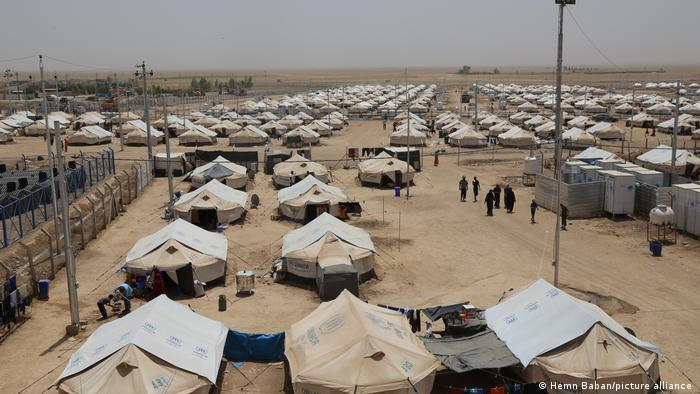 Rows of tents at Dibege Refugee Camp in Iraq