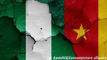 Symbolbild Nigeria and Kamerun Flaggen