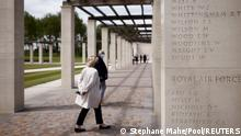 People visit the new British Normandy Memorial at Ver-sur-Mer, before an official opening ceremony on the 77th anniversary of D-Day, France, June 6, 2021. REUTERS/Stephane Mahe/Pool