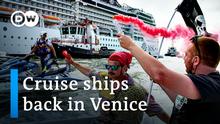 Venedig-Bewohner protestieren gegen Wiederaufnahme von Kreuzfahrten # DW-Nachrichten # 06.06.2021 #venice05g