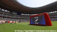 Evento teste em Tóquio, em maio de 2021