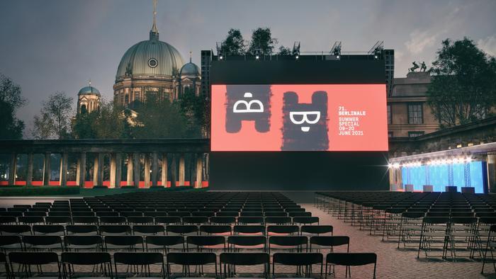 Berlinale Visualisierung Freiluftkino Museumsinsel