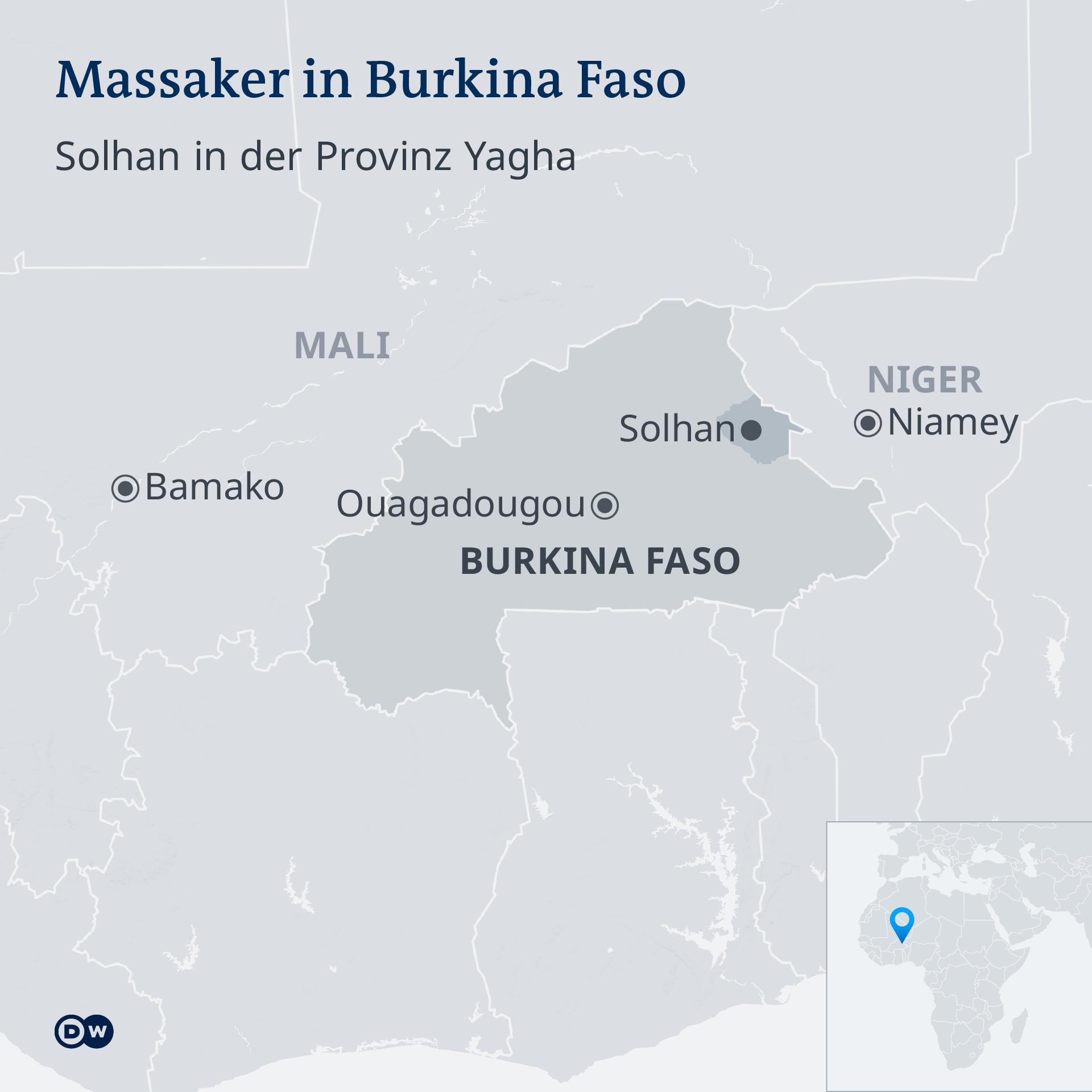 Infografik Karte Massaker Burkina Faso DE
