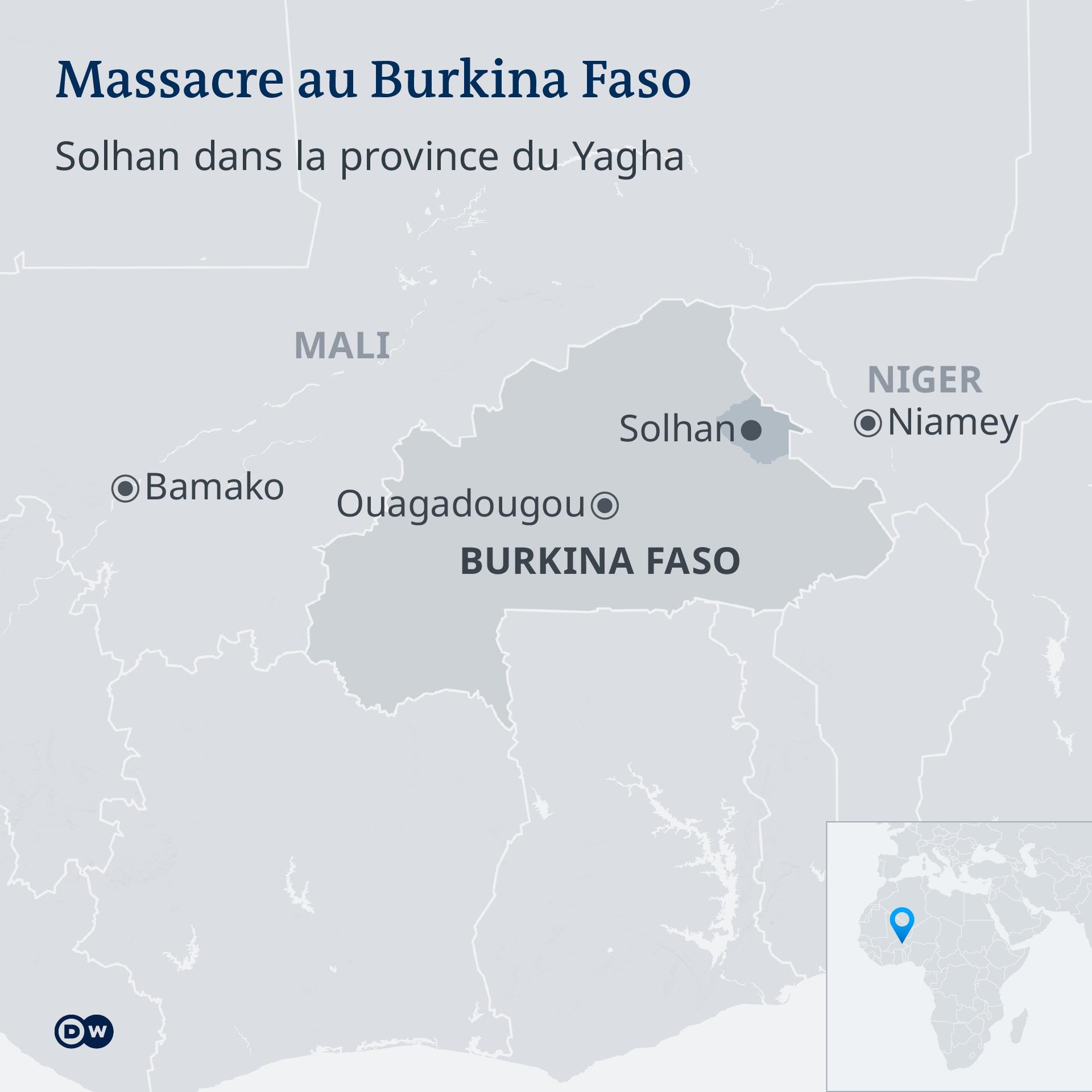 Solhan est situé dans la zone frontalière avec le Niger
