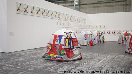 Lucy + Jorge Orta tents in the exhibition Diversity United in Berlin