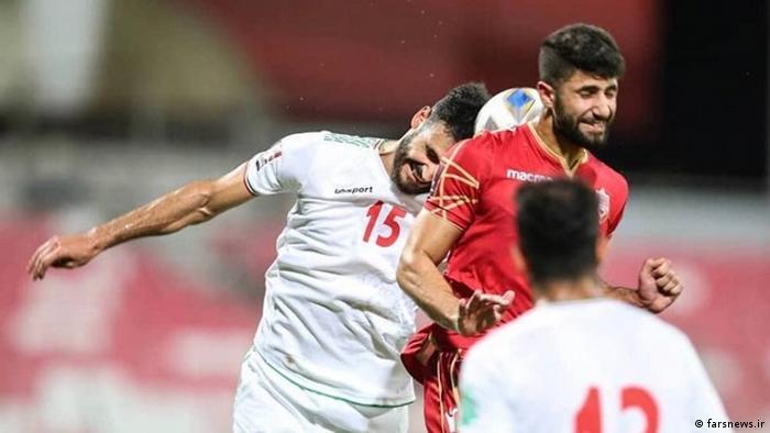 صحنهای از دیدار تیم ملی فوتبال ایران مقابل تیم ملی بحرین