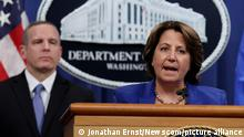Deputy U.S. Attorney General Lisa Monaco announces the recovery of millions of dollars worth of cryptocurrency from the Colonial Pipeline Co. ransomware attacks as she speaks during a news conference with FBI Deputy Director Paul Abbate and Acting U.S. Attorney for the Northern District of California Stephanie Hinds at the Justice Department in Washington, on Monday, June 7, 2021. Pool Photo by Jonathan Ernst/UPI Photo via Newscom picture alliance