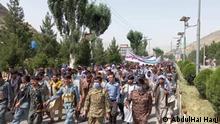 08.06.2021 *** AbdulHai Haqjo von Badakhshan provinz Afghanistan. Todays protest in Badakhshan center Faizabad.