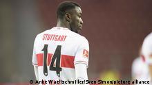 Er heisst nicht Silas Wamangituka, sondern Silas Katompa Mvumpa. Der VfB-Profi hat zwei Jahre unter falscher Identitaet gespielt. Archivfoto: Silas WAMANGITUKA (S) Fussball 1. Bundesliga, 20. Spieltag, Bayer 04 Leverkusen (LEV) - VfB Stuttgart (S) 5:2, am 06.02.2021 in Leverkusen/Deutschland. vǬ