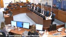 Gerichtssaal des International Residual Mechanism for Criminal Tribunals, Urteilsverkündung gegen Ratko Mlaidc (8.6.2021). (c) International Residual Mechanism for Criminal Tribunals (IRMCT)