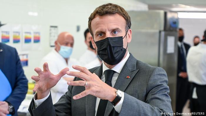 Frankreich Präsident Macron besucht die Region Drome