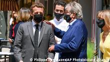 Frankreich Präsident Macron wurde ohrfeigt in Tain l'Hermitage