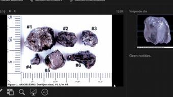 Поражающие элементы ракеты Бук, показанные на заседании по делу о сбитом Боинге