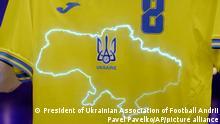 Pavel Pavelko I Neues Trikot für die ukrainische Nationalmanschaft