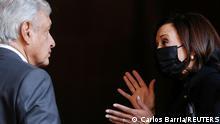 Mexiko US-Vizepräsidentin Harris trifft Präsident Andres Manuel Lopez Obrador