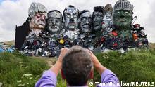 Weltspiegel 09.06.2021 | Großbritannien Cornwall vor G7-Gipfel | Kunstwerk Mount Recyclemore