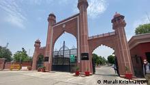The prestigious Aligarh Muslim University which saw an unusually number of Covid deaths among its faculty. Copyright: Murali Krishnan, korri aus Neu Delhi.