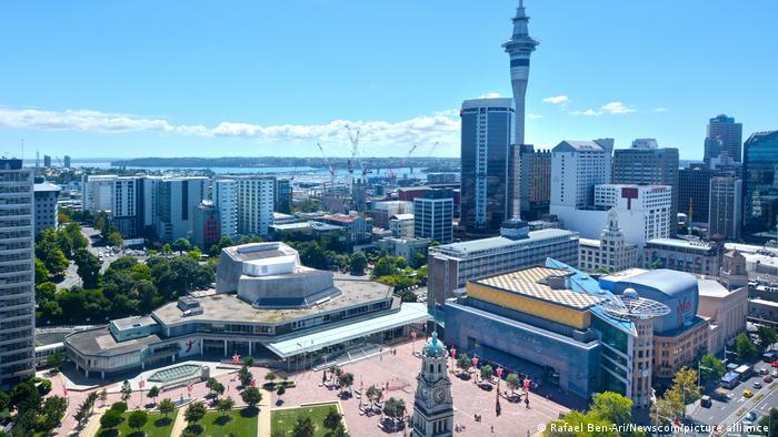 El centro de Auckland.