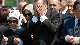 Srebrenica Gedenken Trauer SärgeRecep Tayyip Erdogan