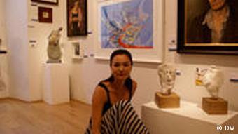 Die ukrainische Künstlerin Julia Podolska
