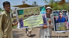 Peshawar Khyber Pukhtoonkwa. Photos By. Faridullah Khan Protest of relatives of missing person during war against terrorism. Relatives of missing people holding picture of the relatives during protest in Peshawar