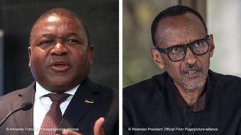 Bildkombo I Filipe Nyusi (Präsident aus Mosambik) und Paul Kagame (Präsident aus Ruanda)