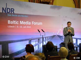Steffen Möller na Baltic Media Forum 2010 w Lubece