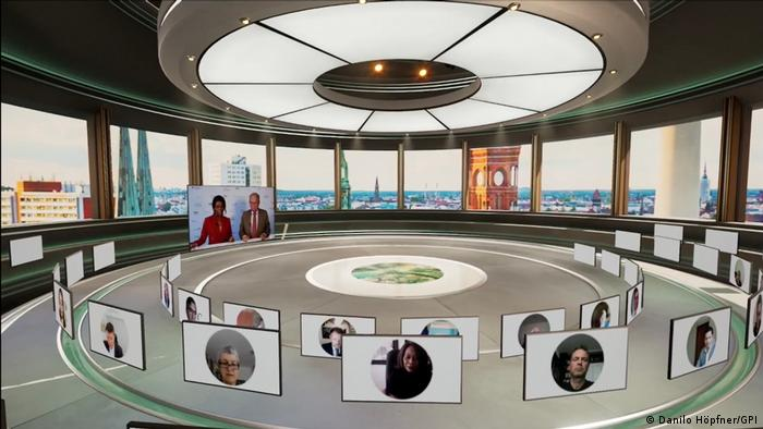 A view of the virtual Africa Roundtable with pictires of the hosts and participants