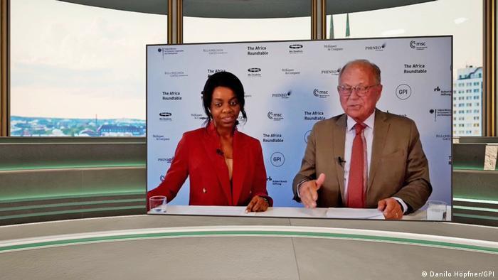 DW's Christine Mhundwa and Ambassador Wolfgang Ischinger