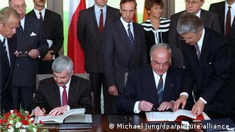 Επίσκεψη του Χέλμουτ Κολ στη Βαρσοβία το 1991