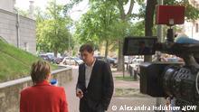 russischer Politiker Dmitrij Gudkow, die unsere Korrespondentin in Kiew Alexandra Indukhowa heute beim Interview mit ihm gemacht hat. via vladimir dorokhov