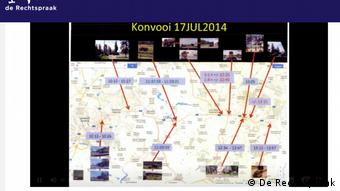 Путь ЗРК Бук от Донецка к Снежному задокументирован многочисленными свидетельствами. Снимок из трансляции судебного заседания 9 июня 2021 года
