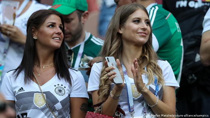 Lina Meyer and Cathy Hummels and a German football game.