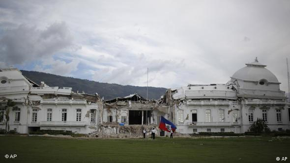 Damaged Haitian National Palace